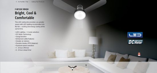 Dining Room Fan Changed Panasonic Led 3 Blade Ceiling Fan F M12gx Vbhqh 48 Dr Koh