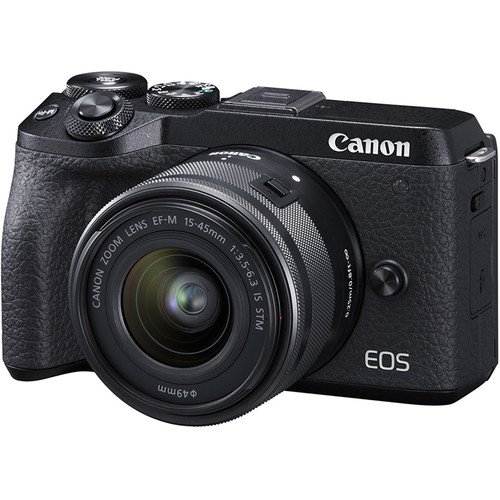 Canon EOS M6 Mark II Mirrorless Digital Camera with 15-45mm Lens (Black) (Free 32GB Memory Card + Camera Bag) (Canon Malaysia)