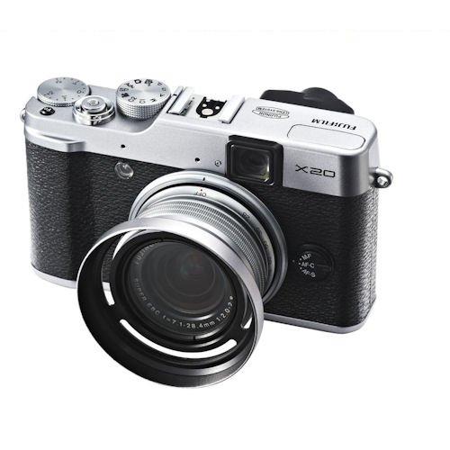 Cap Silver Photo Plus 43mm Metal Lens Hood