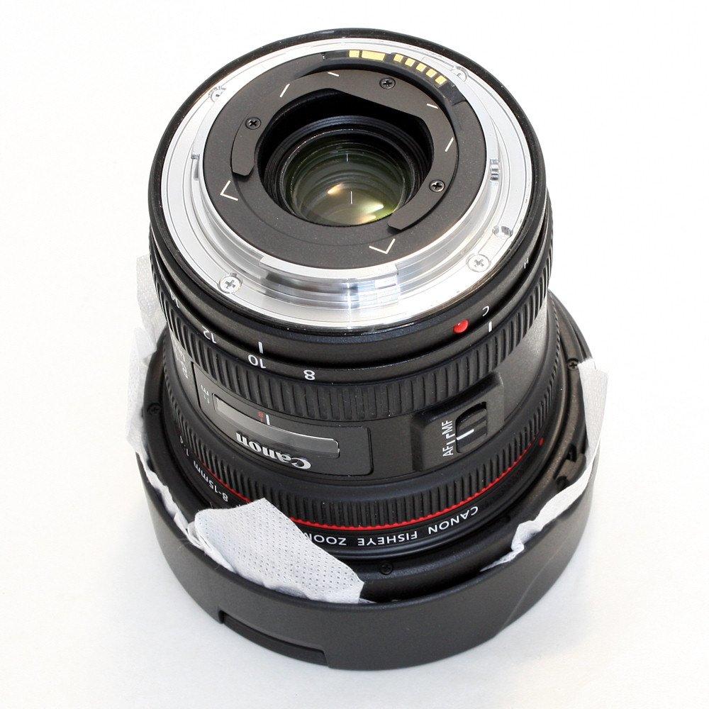 Canon EF 8-15mm f/4L Fisheye USM Lens with External Hard Drive