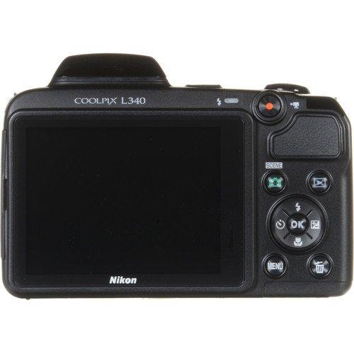 Nikon COOLPIX L340 Digital Camera (Black) (Import
