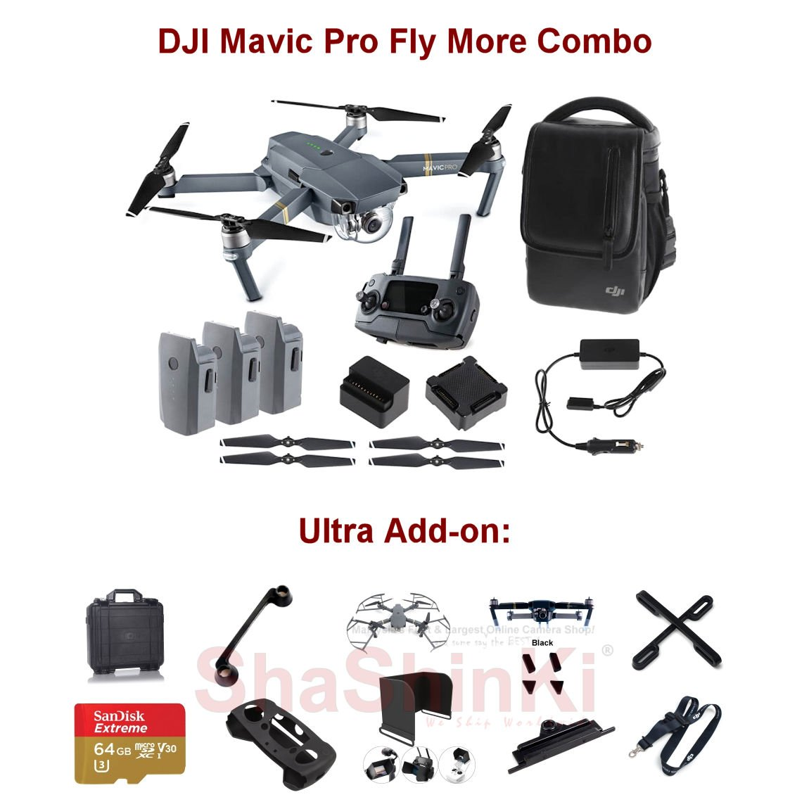 Dji Mavic Pro Fly More Combo Ultra Add On Quadcopter Official Brand