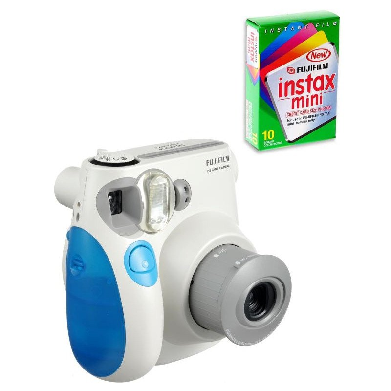 1f101abcfdf3 Fujifilm Instax Mini 7S Instant Film Camera (Blue) with 10pcs Instax ...