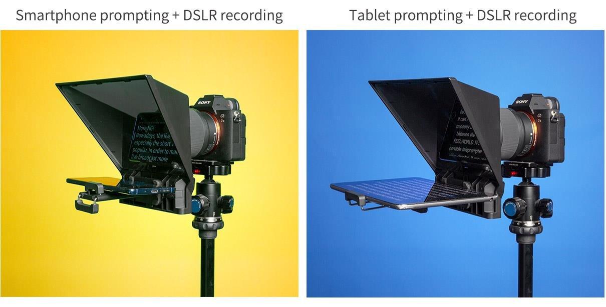 dslr recording teleprompter