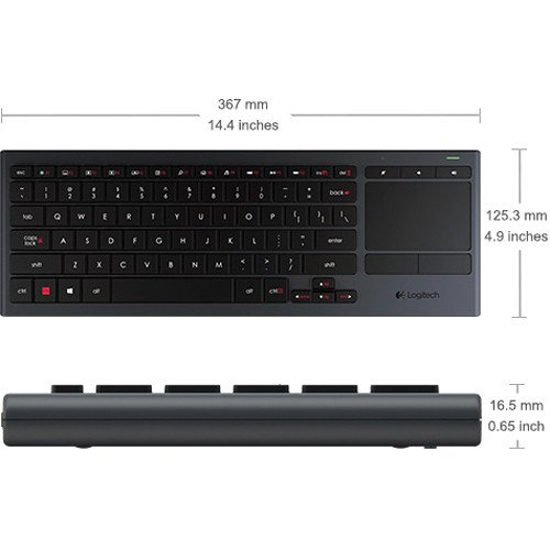 Logitech K830 Wireless Illuminated Living Room Keyboard