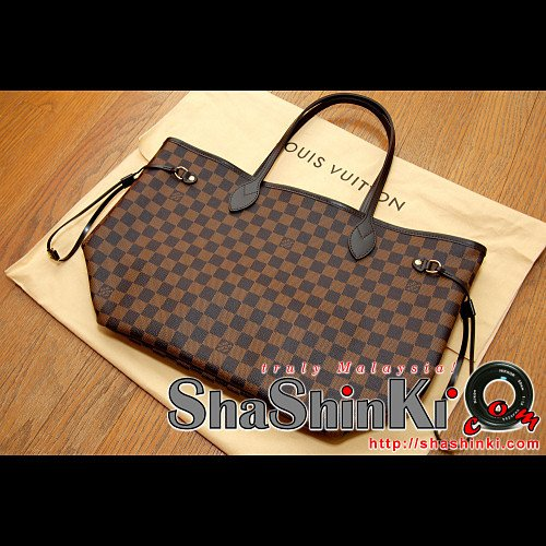 ... Authentic   Original Louis Vuitton (LV) Neverfull MM Damier Canvas Tote  Bag (N51105 ... 960e198875b1e