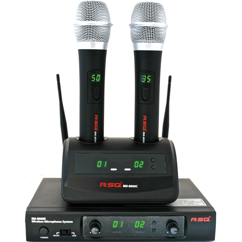 RSQ Audio RM-8000 Rechargeable Dual Channel Wireless