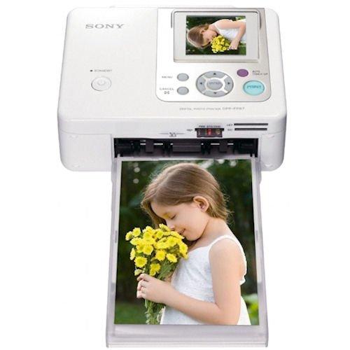 Sony Dpp Fp67 Digital Photo Frameprinter White Shashinki