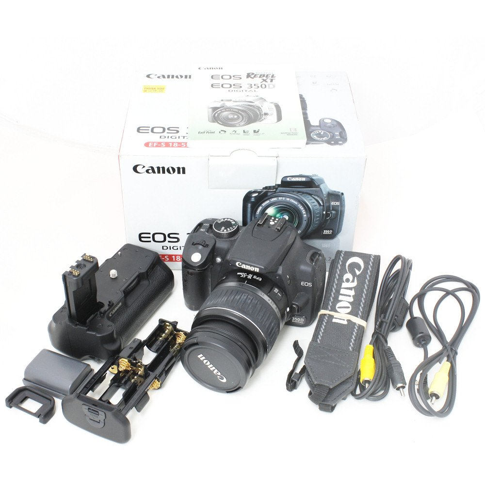 USED] Canon 350D SLR Camera + Canon 18-55mm Lens + Canon BG