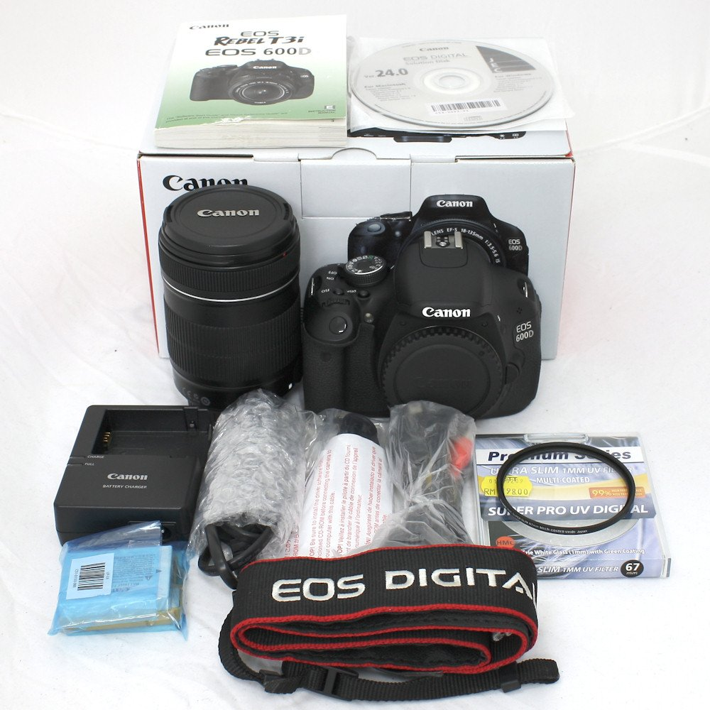 USED] Canon EOS 600D Digital SLR Camera + EF-S 18-135mm f