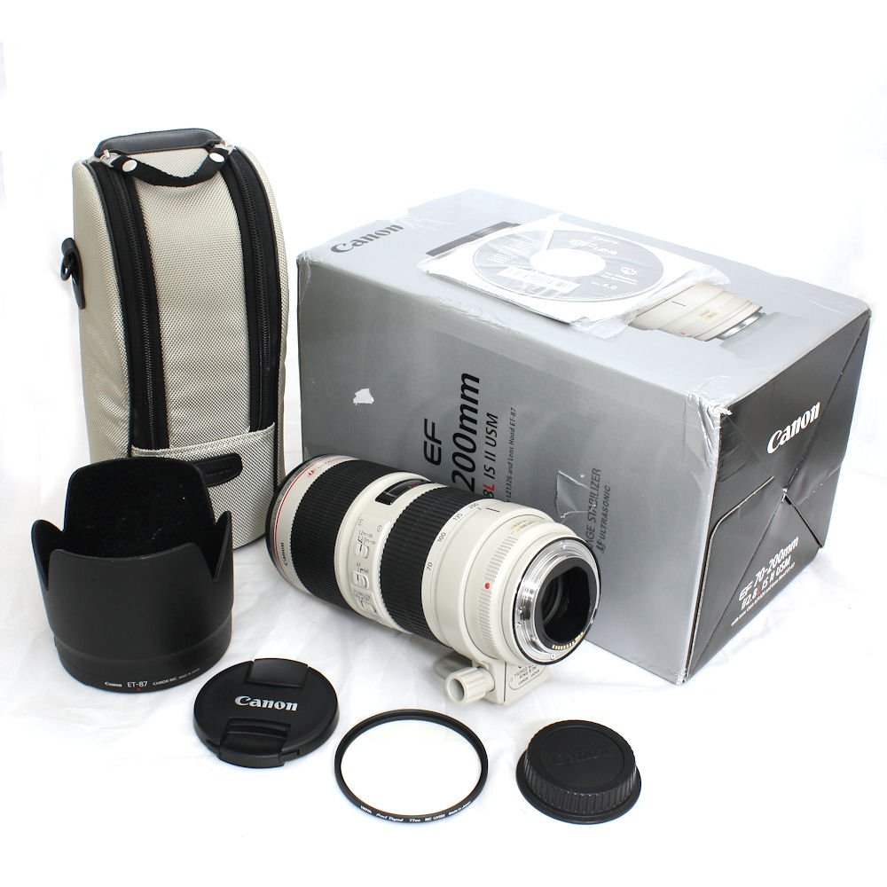 Used Canon Ef 70 200mm F 28l Is Ii Usm Zoom Telephoto Autofocus Lensa Lens With Hoya Pro1 Digital 77mm Mcuv Filter S N 1540008965 Near New In Box
