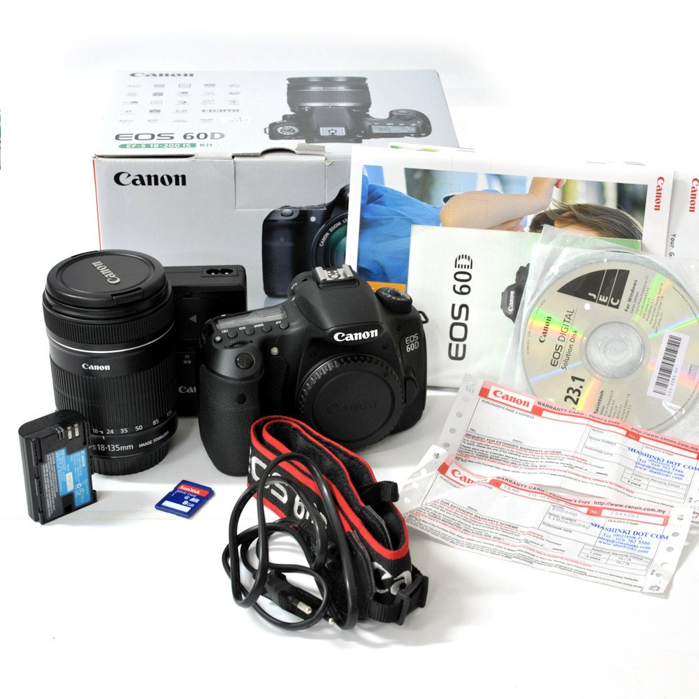 USED] Canon EOS 60D DSLR Camera + EF-S 18-135mm f/3 5-5 6 IS Lens