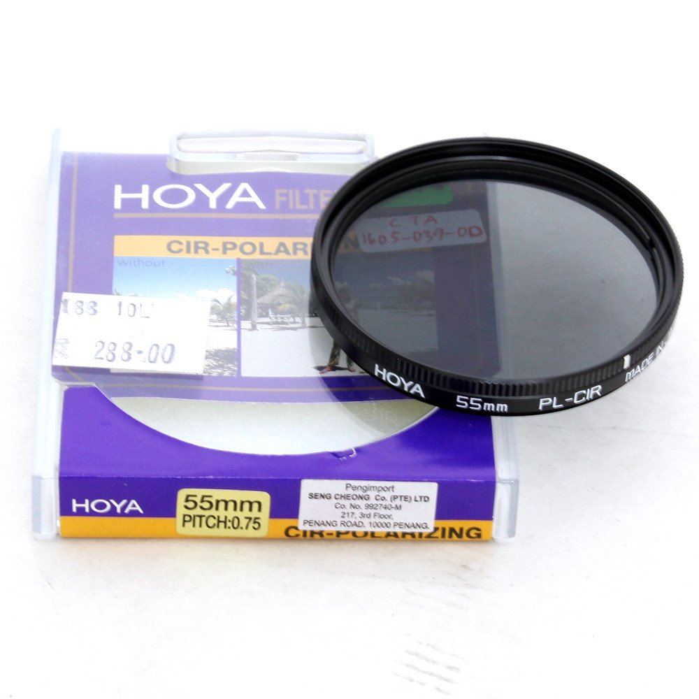 Used Hoya 55mm Cpl Filter Excellent In Box Shashinki Malaysia Lens Cap 3rd Brand