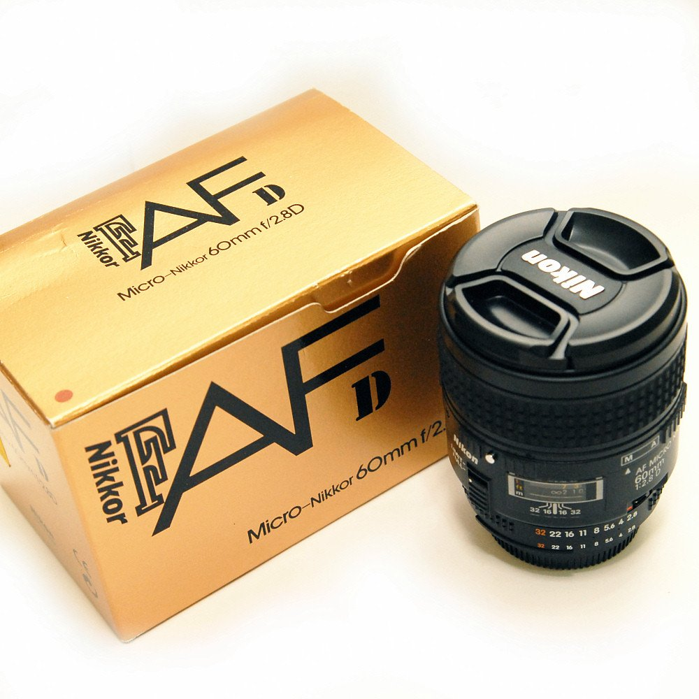 Used Nikon Af 60mm F 28d Micro Lens Near New In Box Shashinki 28mm F28d Malaysia First Largest Online Camera Shop