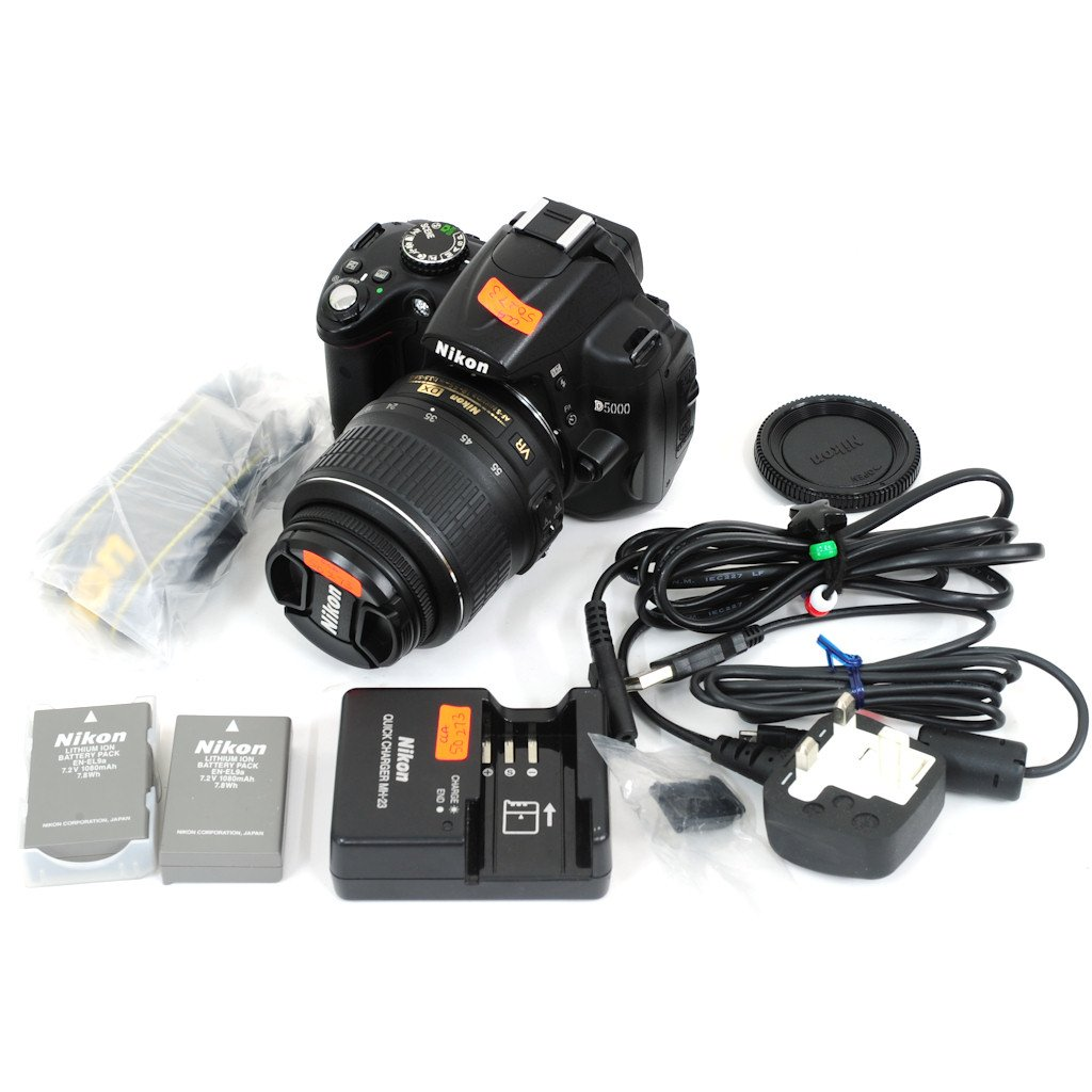 Used Nikon D5000 Digital Slr Camera With Nikkor 18 55mm F 35 56g Lens Cap 3rd Vr Af S Dx Excellent Condition Shashinki Malaysia First Largest Online