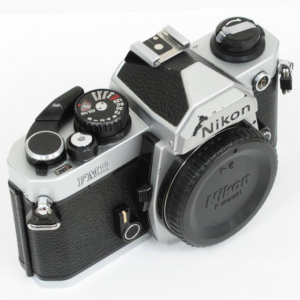 used nikon fm2 film mechanical manual slr camera silver good rh shashinki com nikon camera manual pdf nikon camera manuals d3400
