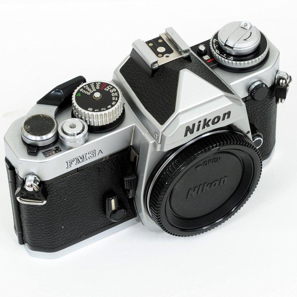 used nikon fm3a film mechanical manual slr camera silver very rh shashinki com best manual focus film camera top manual film cameras