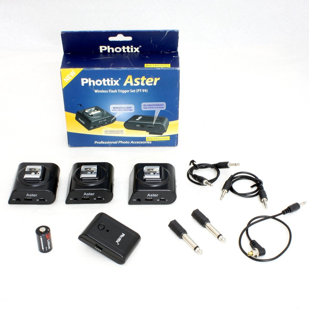USED] Phottix Aster Trigger Set (1 x Transmitter, 3 x