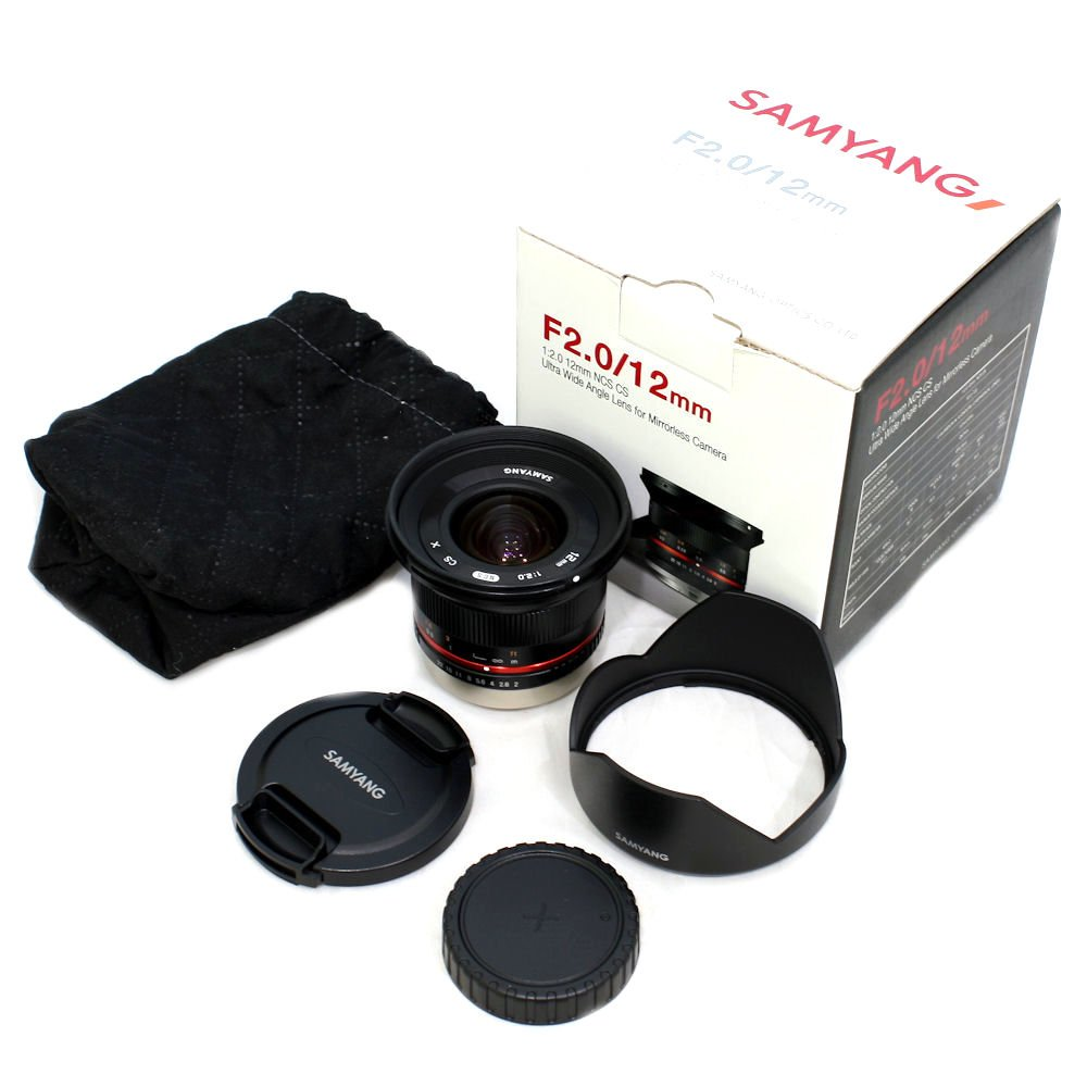 USED] Samyang 12mm f/2 0 NCS CS Lens for Fujifilm X-Mount (S