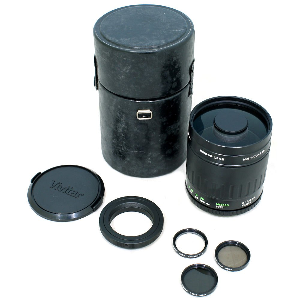 USED] Vivitar 500mm f/8 0 Mirror Lens 1:2 7 x Macro Focusing