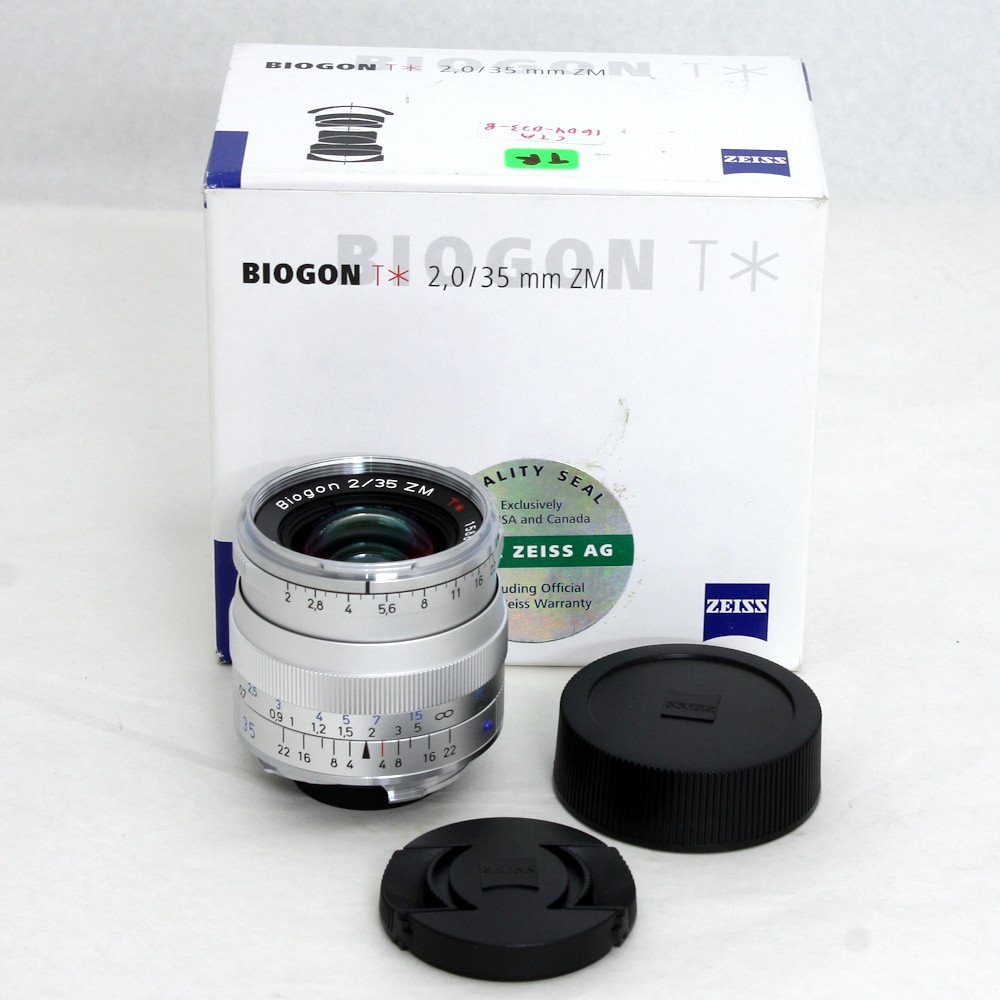 USED] Zeiss Wide Angle 35mm f/2 Biogon T* ZM Manual Focus Lens (S/N
