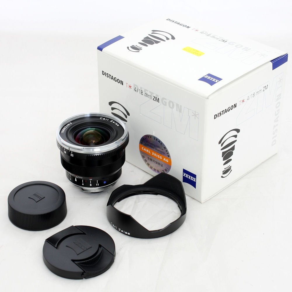 USED] Zeiss 18mm f/4 Distagon T* ZM Super Wide Angle Manual