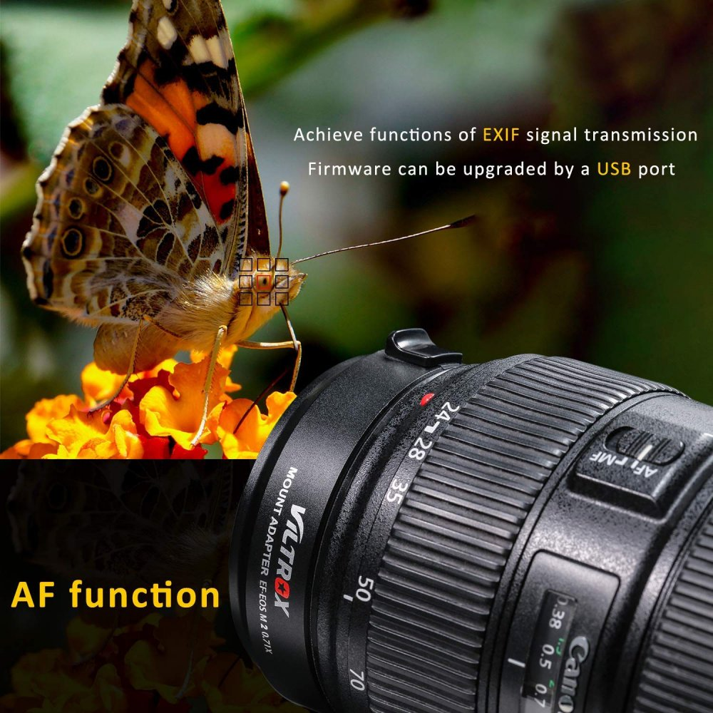 Viltrox EF-EOS M2 EF-M Mount Compatible 0 71x Speed Booster