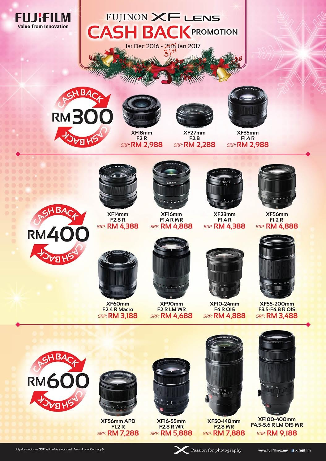 Fujifilm Lens Cash Back Promotions