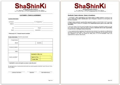 ShaShinKi Trade In  Form (PDF)