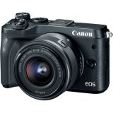 [Canon Prosperous] Canon EOS M6 Mirrorless Digital Camera with 15-45mm Lens (Free 16GB Memory Card, Extra Canon Battery, Camera Bag & Mount Adapter without Tripod Collar Till 28th Feb 2018) (Black) (Canon Malaysia)