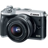 Canon EOS M6 Mirrorless Digital Camera with 15-45mm Lens (Free Extra Canon Battery + Mount Adapter without Tripod Collar Till 30th Sept 2017) (Silver) (Canon Malaysia)