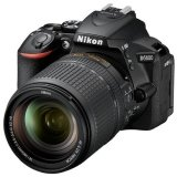 Nikon D5600 DSLR Camera with AF-S DX 18-140mm F3.5-5.6G ED VR Lens (Black) (Online Redemption Free AF-P DX 70-300mm f/4.5-6.3G ED VR + Exclusive NIKON T-Shirt) (Free Nikon Bag + Sandisk Ultra 16GB Memory Card) (1+1 Year Nikon Malaysia Warranty)