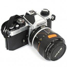 used nikon fm2 film mechanical manual slr camera silver nikkor rh shashinki com Requires a Digital SLR Camera Manual Manual 35Mm SLR Camera