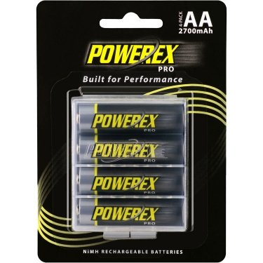Maha Powerex PRO Low Self-Discharge Rechargeable AA NiMH Batteries (1.2V, 2700mAh) (4 AA Batteries)