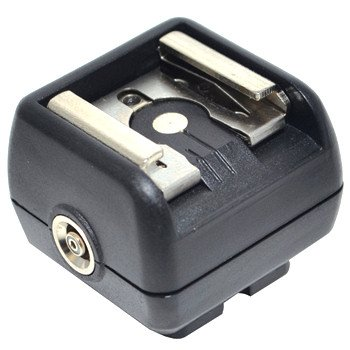 JJC JSC-2 Hot Shoe Adapter with PC Female Outlets