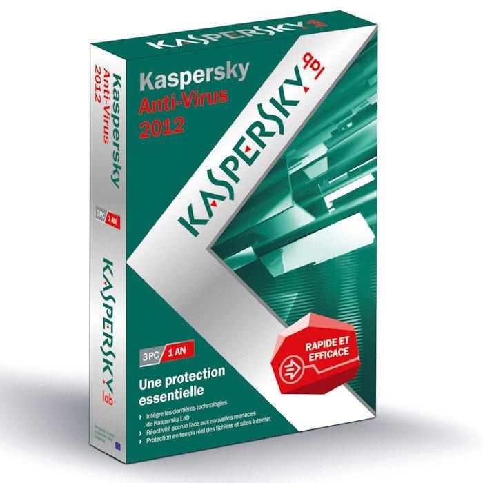 Kaspersky Anti Virus 2012 For 3 PCs CD In Box Version 1