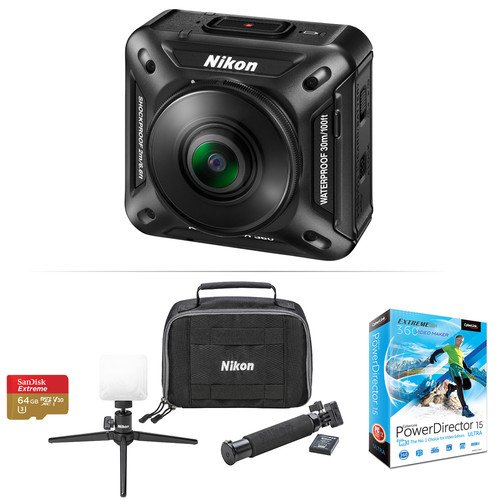 Nikon KeyMission 360 4K Action Camera & PowerDirector 15 Ultra Kit (Import) ShaShinKi - Malaysia ...