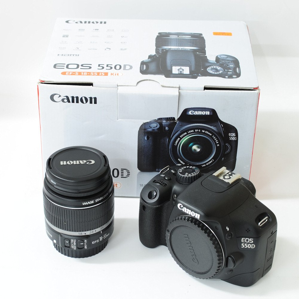 Camera Canon 550d Dslr Camera used canon eos 550d digital slr camera ef s 18 55mm is lens trade in your gear for cash