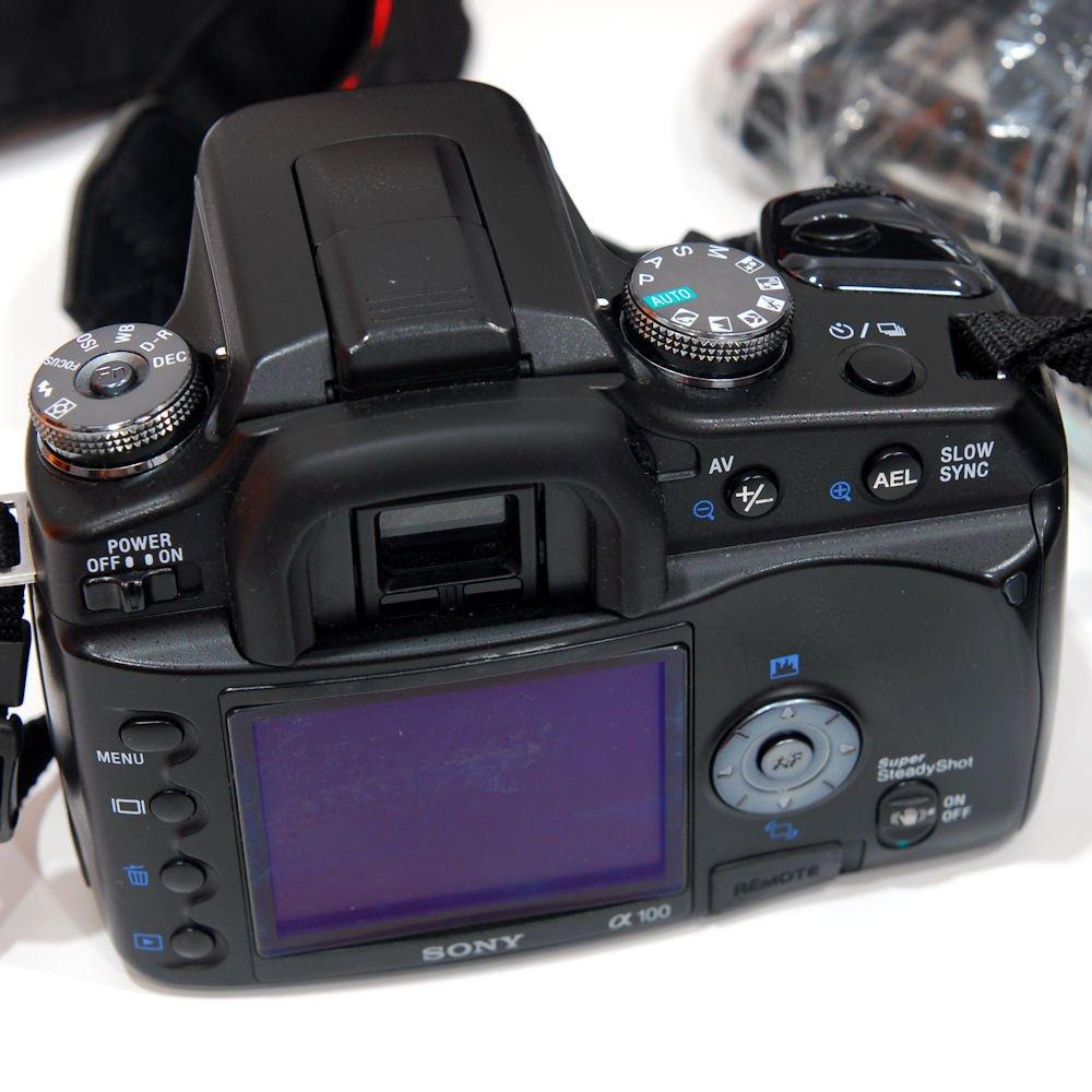 Camera Sony A100 Dslr Camera used sony dslr alpha a100 18 70mm f3 5 6 kit lens excellent 6