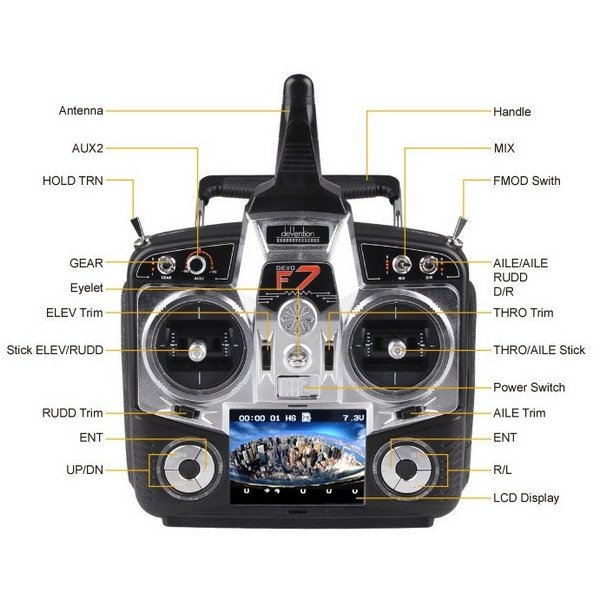 Walkera Qr X350 Pro Rtf4 With Devo F7 2 X Battery
