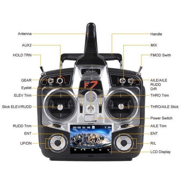 Walkera Qr X350 Pro Rtf4 With Devo F7 2 X Battery